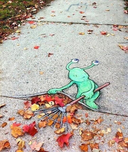 创意的街头粉笔艺术