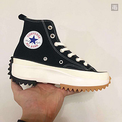 高工艺硫化加冷粘三次成型组合鞋底公司级网红明星上脚款爆款出货摩登时尚新品英国服装品牌再度联名JWAndersonxConversechuckRunStarHike1970