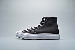 Converse匡威allstar新款错位多logo印花帆布鞋166736Csize3544365375395415425