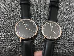 金边黑色表面 黑色皮带原单正品Daniel Wellington丹尼尔惠灵顿 DW手表