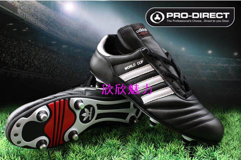 阿迪达斯 adidas copa 正皮活动铝钉 黑白 39 45 足球鞋