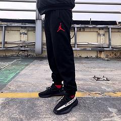 Air Jordan 乔丹经典刺绣熊猫全棉毛圈长裤