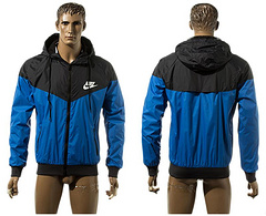Nike Hooded jacket All-weather training jacket black and blue Football jersey