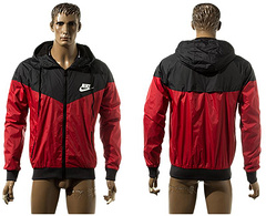 Nike Hooded jacket all-weather training jacket black red Football jersey