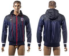 Nike Hooded jacket dark blue series hooded trench coat Football jersey