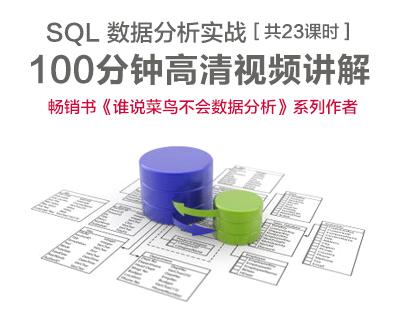 SQL数据分析实战【主讲:张文霖】