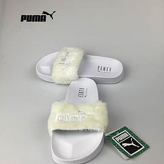 彪马拖鞋 蕾哈娜联名拖鞋 PUMA BY RIHANNA LEADCAT FENTY白色35-40