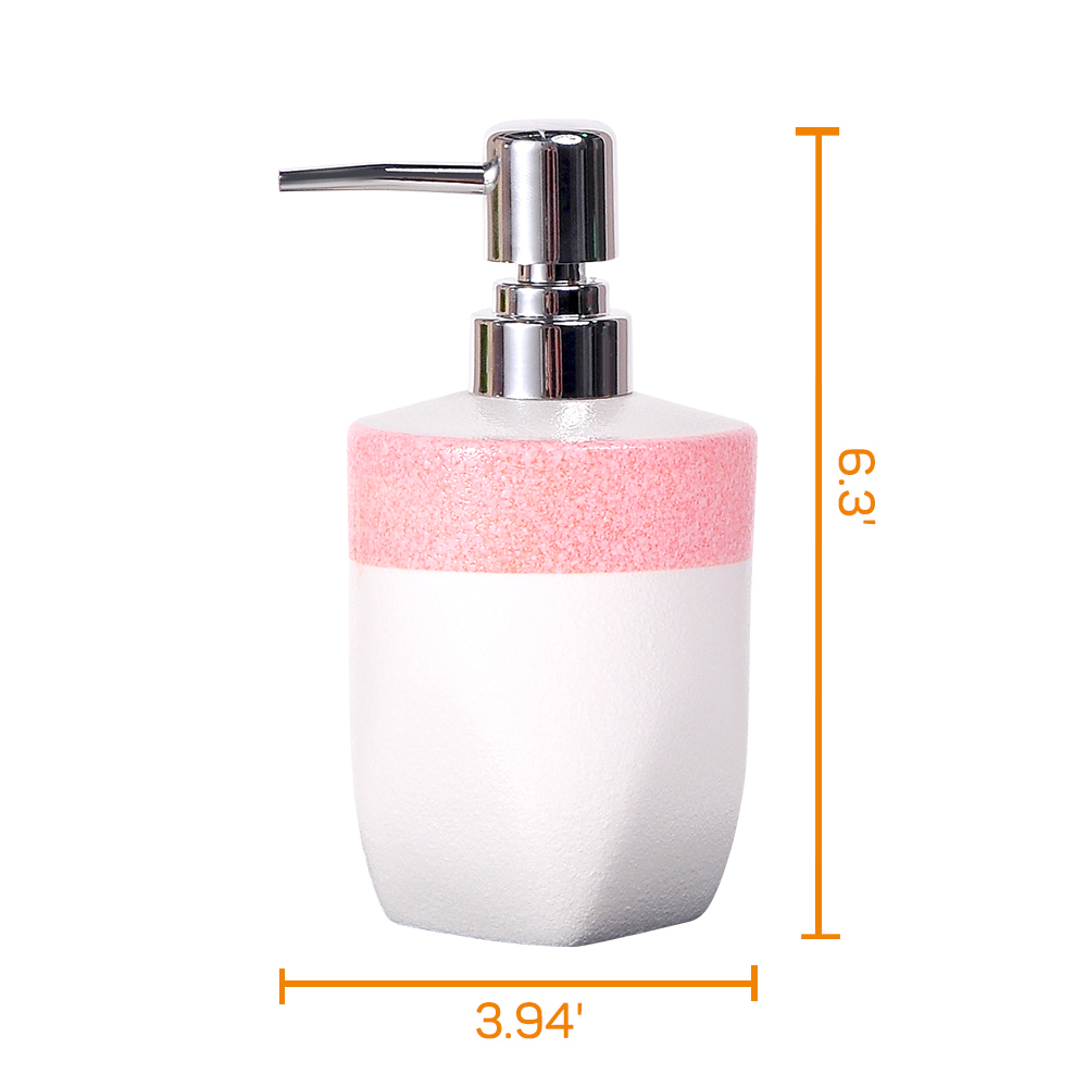 Kitchen Bathroom Ceramic Soap Lotion Dispenser Liquid Pump