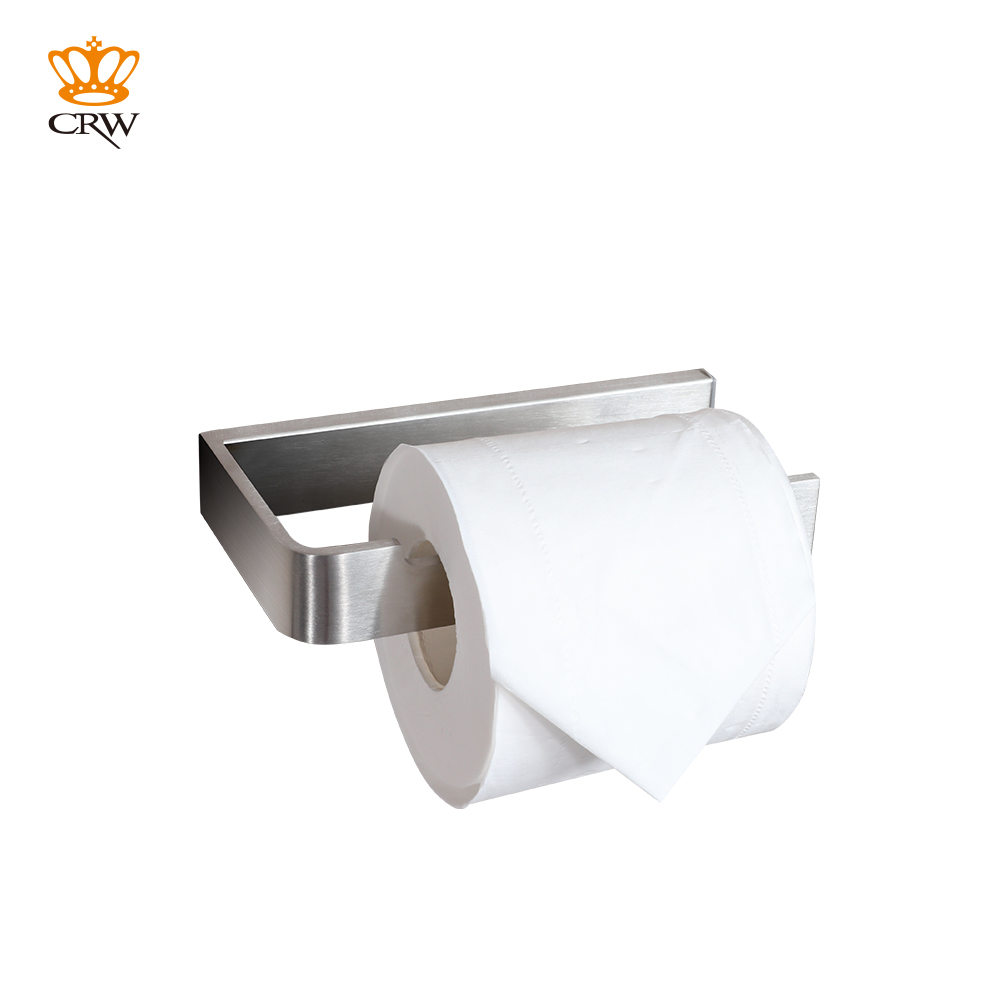 Crw Brass Bathroom Toilet Paper Tissue Roll Holder Wall