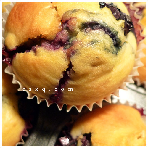 简单の美味~爆浆蓝莓玛芬