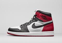 真标二层皮真标系列乔丹1代篮球鞋乔1aj1AirJordan1BlackToe黑脚趾男女鞋3646