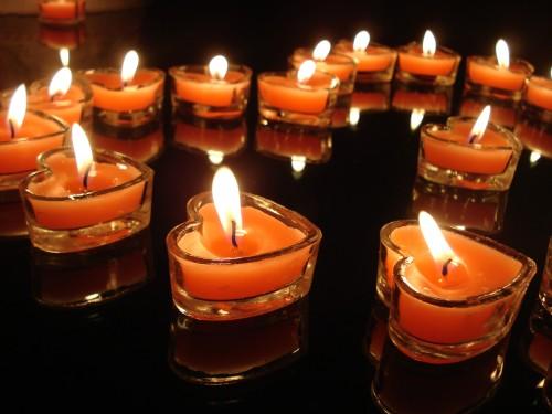 人节 求爱求婚表白蜡烛 浪漫玫瑰香恋家心形玻璃杯蜡烛香薰蜡烛 -蜡