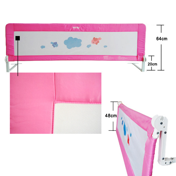 150 180cm Child Kids Toddler Safety Bed Rail Gate Bed