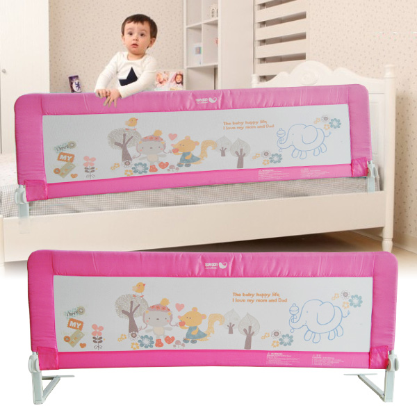 120 150 180cm kinderbettgitter bettschutzgitter kinder bettgitter gitter pink ebay. Black Bedroom Furniture Sets. Home Design Ideas