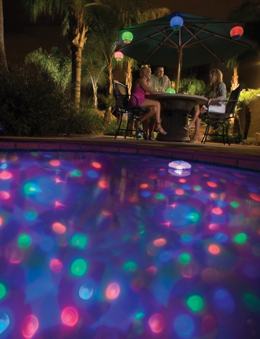 Led aquaglow decor underwater disco show ball light for for Pool light show waikiki