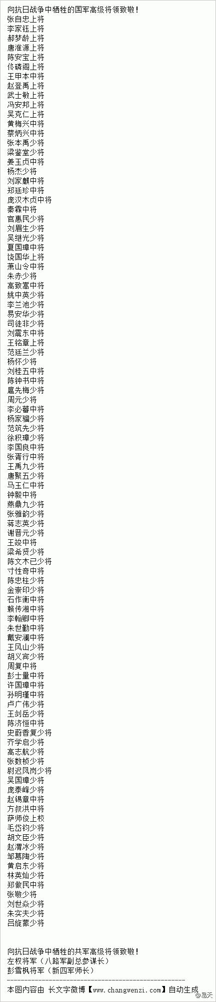 国共两党抗日中牺牲的高级将领名录95:2 - 范荣 - 读万卷书,行万里路——范荣的博客