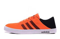 彭于宴同款 阿迪达斯adidasNEO夏季最新款 可当拖鞋两用 FY1606-6黑/荧光橘36-44