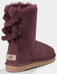 官方同步UGG雪地靴 ugg羊皮毛一体1005532灯芯绒蝴蝶结中筒女鞋紫色