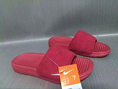 耐克NikeBenassiSolarsoft陈冠希同款红色男女情侣拖鞋3645