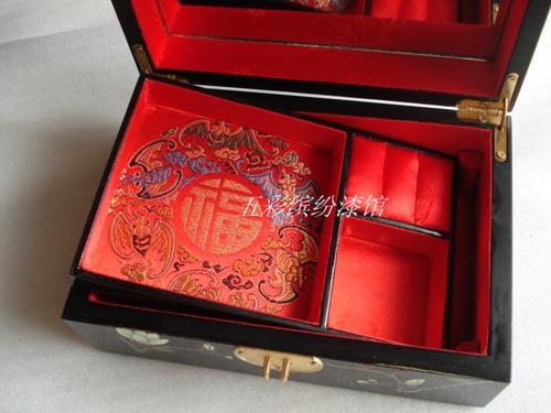 饰盒 珠宝盒 收纳盒手工木制结婚生日礼品