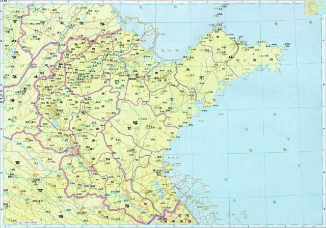 宋代山东地区的行政区划图