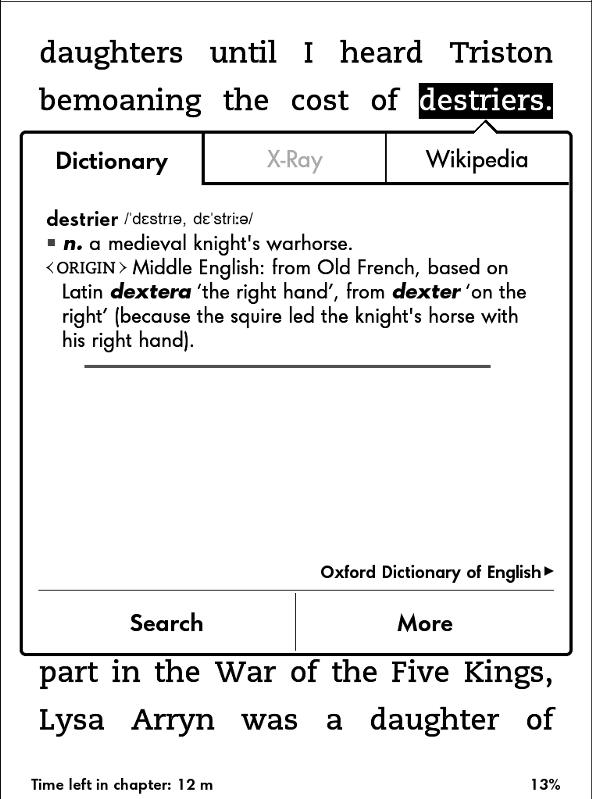 《牛津英语词典》(Kindle默认字典)中能查到马丁使用的大部分古英语单词。
