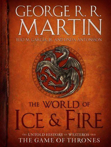 """""""这本配图丰富的书籍是对七国历史的全面记录,生动地描述了诱发《冰与火之歌》中的事件的史诗战役、家族苦战、以及勇敢的反叛。本书由马丁、小埃利奥·M·加西亚(Elio M. García, Jr)以及Westeros.org的创立者琳达·安东森(Linda Antonsson)合著。""""——亚马逊"""