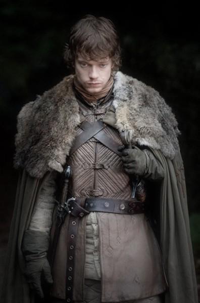 席恩‧葛雷乔伊(Theon Greyjoy)的服饰,由米歇尔·克莱普顿为HBO的电视剧《权力的游戏》设计。