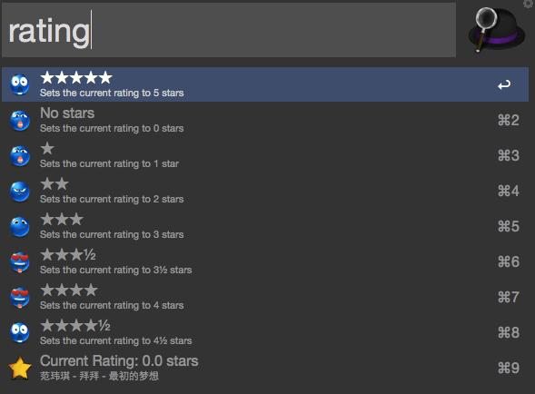 iTunes 歌曲评级Alfred workflow