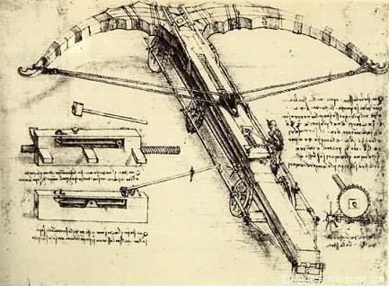 达芬奇设计的弩机