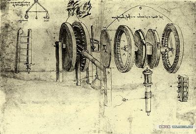 达芬奇所设置的奇妙的机械