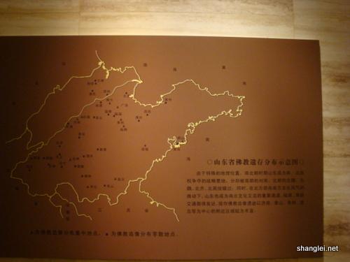 山东省佛教遗存分布示意图-山东省博物馆-佛教造像艺术展