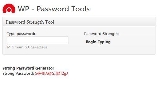 wsd-security的生成复杂密码的工具