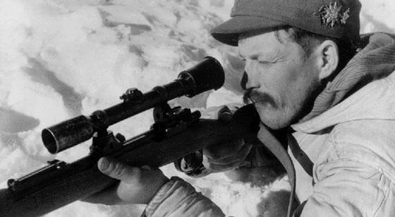 实战中的德军山地部队狙击手。