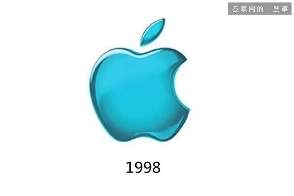 直到1998年iMac发布后,苹果的彩虹logo才被替换为半透明的粉蓝色logo。