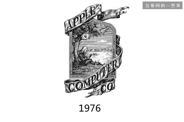韦恩将苹果的logo设计为一块铭牌,上面的图案是孤独的牛顿在苹果树下读书冥思。
