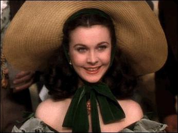 《乱世佳人》里面的斯嘉丽的帽子