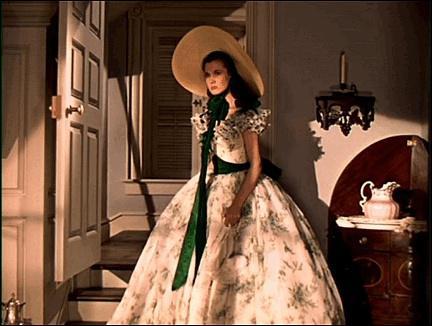 《乱世佳人》里面的斯嘉丽的帽子和服装