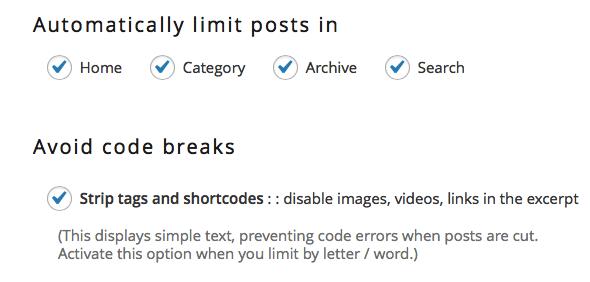 Auto Limit Posts-截图2