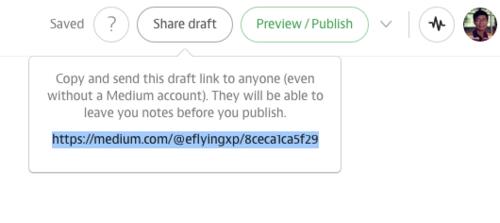 Medium分享草稿寻求他人协作批注的功能Snip20150403_11