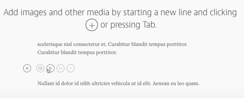 Medium编辑界面:插入图片、视频和代码 Snip20150403_9