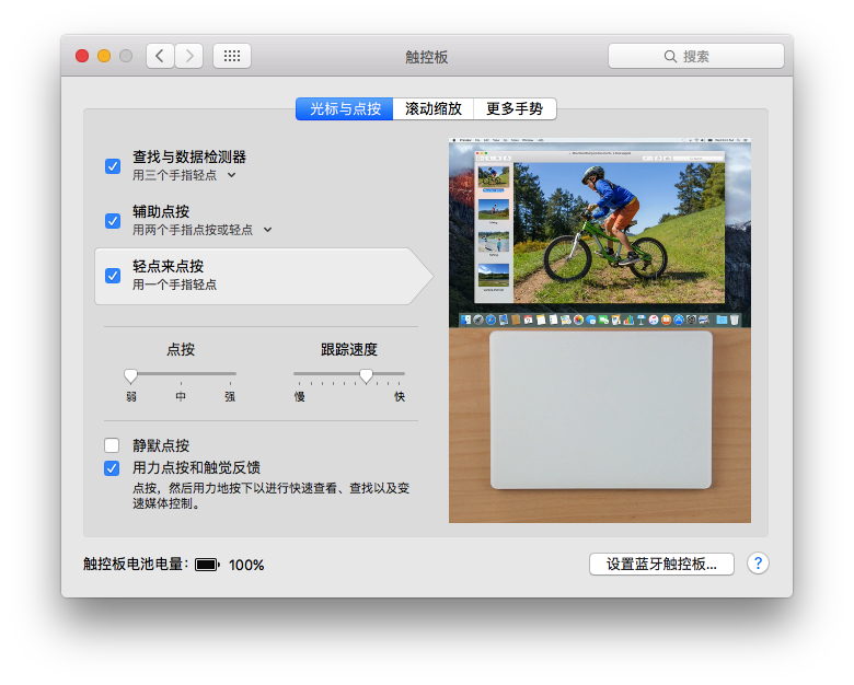Apple 触控板 Magic Track 2 设置