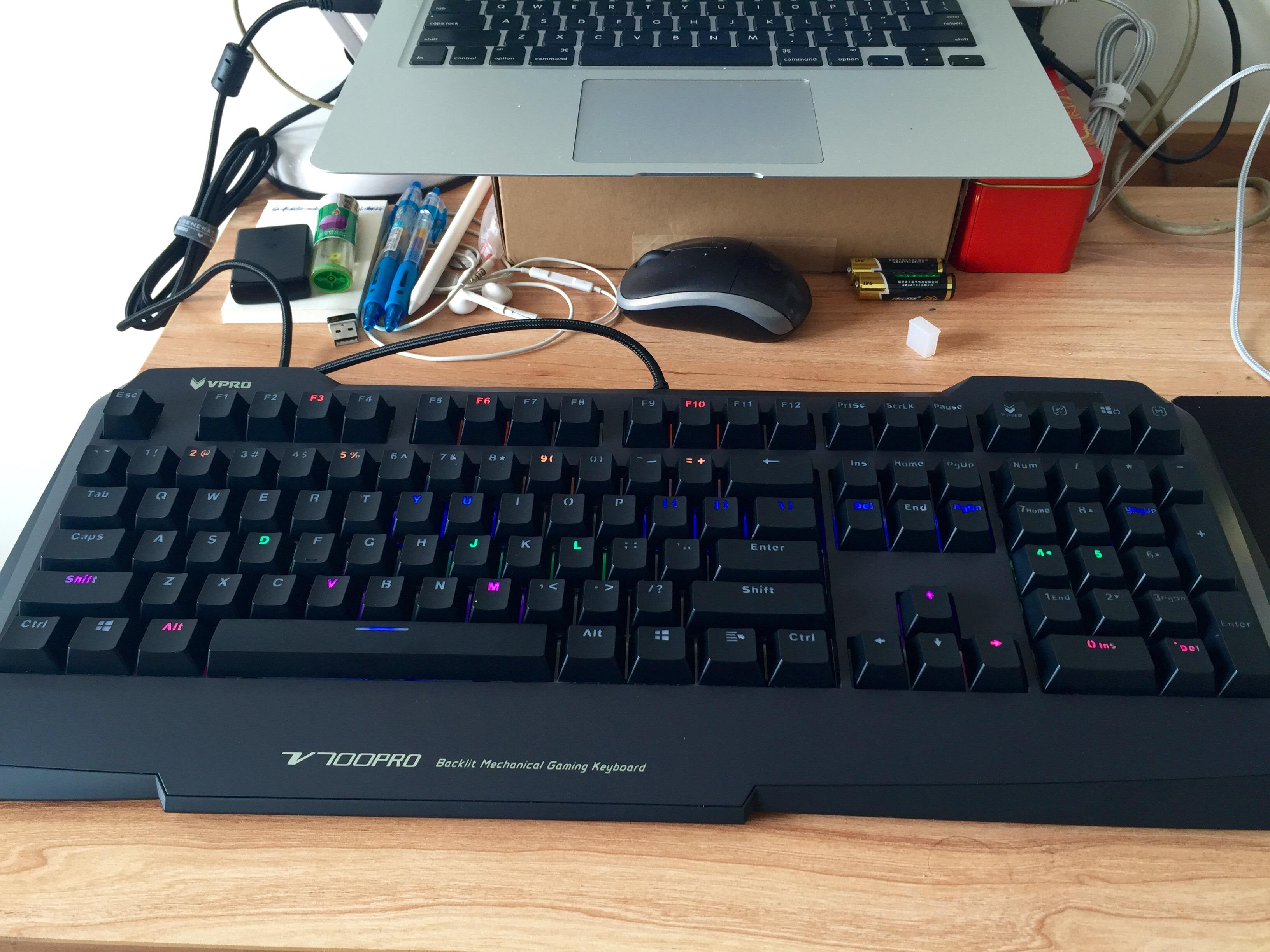 雷柏V700PRO青轴机械键盘