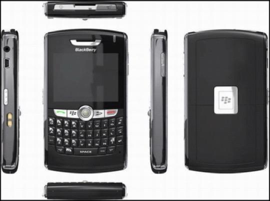 黑莓8800-各个角度