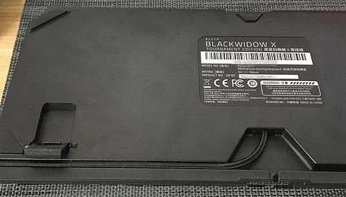 雷蛇黑寡妇蜘蛛X竞技版机械键盘(绿轴)——Razer Blackwidow X Tournament Edition IMG_0496