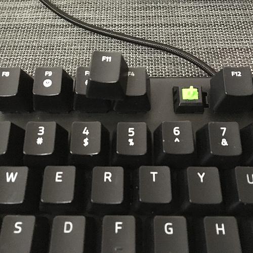 雷蛇黑寡妇蜘蛛X竞技版机械键盘(绿轴)——Razer Blackwidow X Tournament Edition IMG_0495