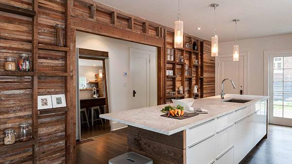 西雅图设计及工程公司JAS Design Build作品-用回收木料翻新厨房