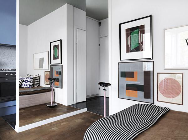 艺术设计氛围的瑞典24平方米小户型大单间公寓