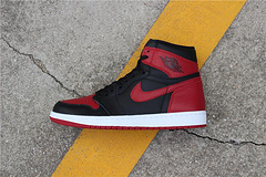 Nike Air Jordan 1 Banned 555088-001 Black and Red Forbidden 41-46