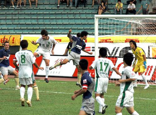 2007年中超第26轮:深圳上清饮1-0浙江绿城